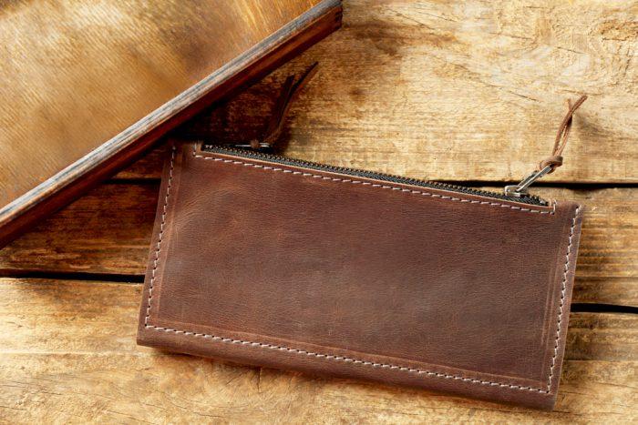 長財布の経年変化