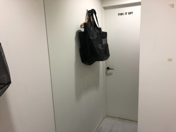 fincfitの更衣室