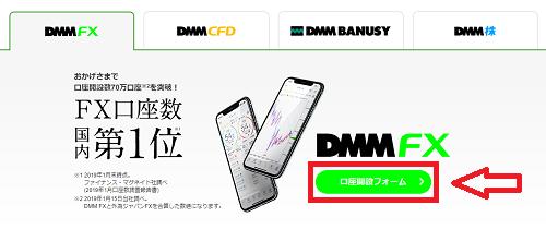 DMM FXの口座開設