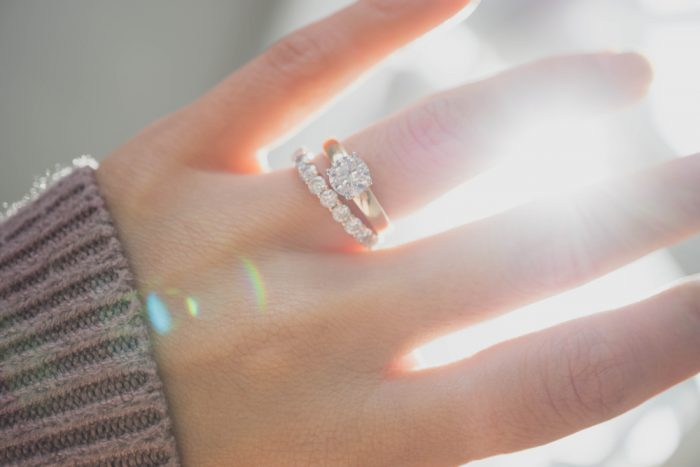 婚約指輪と結婚指輪のセット1