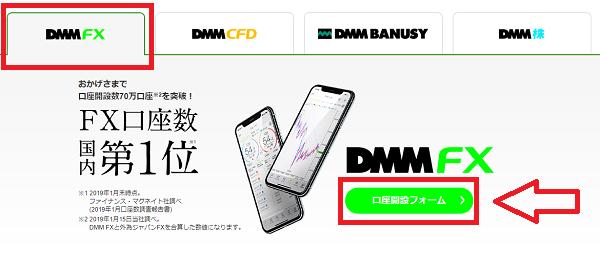 DMMFXの口座開設