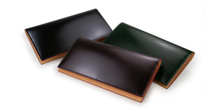 GANZO(ガンゾ)のCORDOVAN(コードバン)ファスナー小銭入れ付き長財布