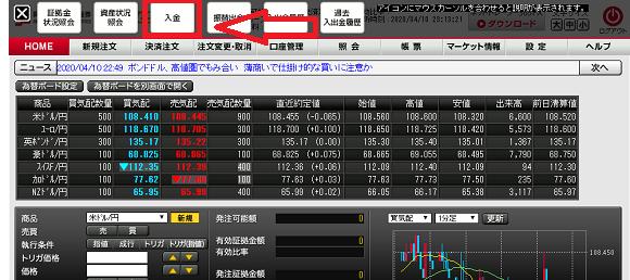 岡三オンライン証券の入金